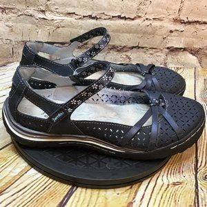 Jambu Womens Vented Athletic Sandals Size 8 Wide